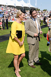 ZARA PHILLIPS and NATHANIEL PARKER at the 3rd day of the 2013 Glorious Goodwood racing festival - Ladies day at Goodwood Racecourse, West Sussex on 1st August 2013.