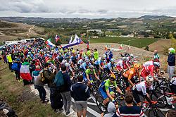 ROGLIC Primoz of Slovenia, POGACAR Tadej of Slovenia, TRATNIK Jan of Slovenia compete during Men Elite Road Race at UCI Road World Championship 2020, on September 27, 2020 in Imola, Italy. Photo by Vid Ponikvar / Sportida