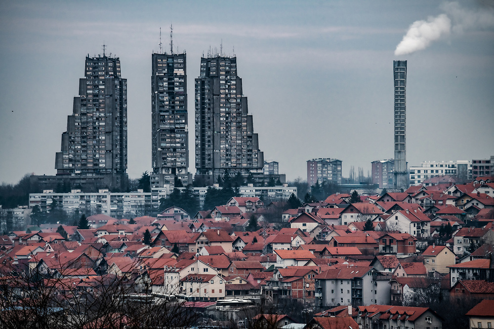Eastern City Gate of Belgrade, Serbia