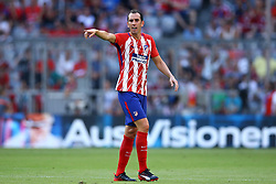 August 1, 2017 - Munich, Germany - Diego Godin of Atletico de Madrid durign the first Audi Cup football match between Atletico Madrid and SSC Napoli in the stadium in Munich, southern Germany, on August 1, 2017. (Credit Image: © Matteo Ciambelli/NurPhoto via ZUMA Press)