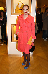"DAISY DE VILLENEUVE at a book signing hosted by Tod's for Dante Ferretti's new book 'The Art of Production Design"" held at the Tod's store, 2/3 Old Bond Street, London on 19th April 2005.<br />
