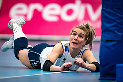 Kirsten Knip of Sliedrecht Sport  in action during the first league match in the corona lockdown between Talentteam Papendal vs. Sliedrecht Sport on January 09, 2021 in Ede.