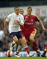 Photo: Olly Greenwood.<br />Tottenham Hotspur v Reading. The Barclays Premiership. 01/04/2007. Spurs Jermaine Jenas and Reading's Steve Sidwell