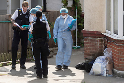 © Licensed to London News Pictures. 22/07/2020. Police forensic officers work at a home in Preston Road, Wembley after arresting a woman on suspicion of murdering a one year old baby. The baby was found dead at the home earlier this morning. London, UK. Photo credit: Ray Tang/LNP