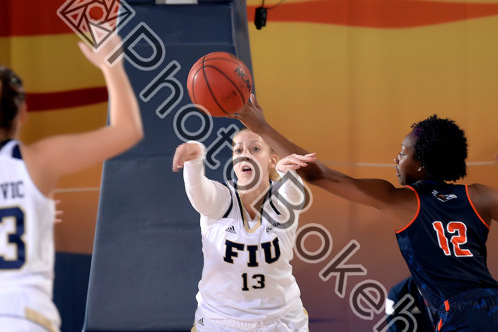 2016 January 21 - FIU's Janka Hegedus (13).  <br /> Florida International University fell to UTSA, 52-63, at FIU Arena, Miami, Florida. (Photo by: Alex J. Hernandez / photobokeh.com) This image is copyright by PhotoBokeh.com and may not be reproduced or retransmitted without express written consent of PhotoBokeh.com. ©2016 PhotoBokeh.com - All Rights Reserved