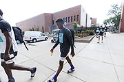 ST. LOUIS, MO June 8, 2018 - Nike Elite 100.   Zion Harmon 2021 #1 of Bradley Beal Elite walks to the cafeteria. <br /> NOTE TO USER: Mandatory Copyright Notice: Photo by Jon Lopez / Nike