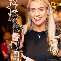 Cork Footballer Orla Finn with her second All Star award at a special presentation to Orla in the Blue Haven Hotel by Kinsale GAA.<br /> Picture. John Allen
