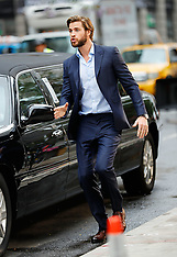 Liam Hemsworth and Rebel Wilson film scenes Isn't It Romantic - 25 July 2017