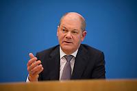 DEU, Deutschland, Germany, Berlin, 12.03.2018: Olaf Scholz (SPD), in der Bundespressekonferenz zum Koalitionsvertrag von CDU, CSU und SPD.