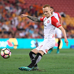 BRISBANE, AUSTRALIA - DECEMBER 22: Jack Clisby of the Wanderers passes the ball during the round 4 Foxtel National Youth League match between the Brisbane Roar and Melbourne City at AJ Kelly Field on December 22, 2016 in Brisbane, Australia. (Photo by Patrick Kearney/Brisbane Roar)