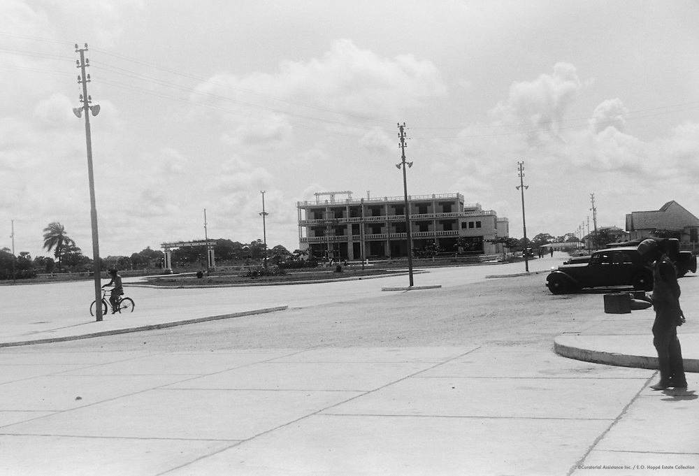 Street Scene, Pointe Noir, French Equitorial Africa (now Republic of Congo), Africa, 1937