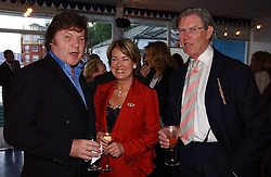 Left to right, RUPERT ALLASON and BILL CASH MP and his wife BIDDY at a party hosted by Sonia & Andrew Sinclair at The Westminster Boating Base, 136 Grosvenor Road, London SW1 on 5th June 2006.<br /><br />NON EXCLUSIVE - WORLD RIGHTS
