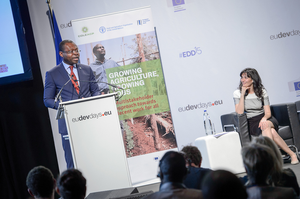 04 June 2015 - Belgium - Brussels - European Development Days - EDD - Jobs - Growing agriculture , growing jobs - The private sector on the spot - Viwanou Gnassounou ,<br /> Assistant Secretary General - ACP Secretariat © European Union