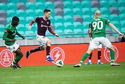 Armin Cerimagic of NK Triglav and Daniel Yves Kamy of NK Olimpija during football match between NK Olimpija Ljubljana and NK Triglav Kranj in Round #22 of Prva liga Telekom Slovenije 2019/20, 25 February, 2020 in Stadium Stozice, Ljubljana, Slovenia. Photo By Grega Valancic / Sportida