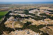 Nederland, Noord-Holland, Texel, 14-07-2008; Loodsmansduin, camping; gelegen vlak bij Den Hoorn, midden in het Nationaal Park Duinen van Texel; kamperen, tent, caravan, tenten, caravans. .luchtfoto (toeslag); aerial photo (additional fee required); .foto Siebe Swart / photo Siebe Swart