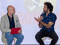 "Fernando Jerez and Raul Gomez during the presentation of ""Maraton Man"", a new tv program of Movistar+. May 25,2016. (ALTERPHOTOS/Rodrigo Jimenez)"