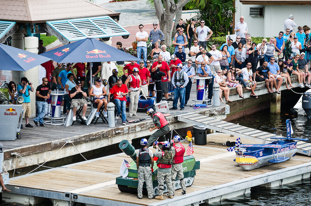 Participants at Red Bull Candola on Ft. Lauderdale, Florida.