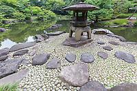 Kyu Furukawa Garden was originally the domain of a Meiji Period notable Mutsu Munemitsu. but later became the property of the Furukawa family.  Ogawa Jihei  sometimes known as Niwashi Ueji designed the garden renowned for its beauty. The Furukawa garden is regarded as an example of gardens of the Taisho Period of Japan.