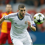 Real Madrid's Karim Benzema during their UEFA Champions League Quarter-finals, Second leg match Galatasaray between Real Madrid at the TT Arena AliSamiYen Spor Kompleksi in Istanbul, Turkey on Tuesday 09 April 2013. Photo by Aykut AKICI/TURKPIX