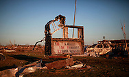 """The sign outside the Plaza Towers elementary school where seven children died in a tornado says today was to be """"Super Kids Day"""" in Oklahoma City, Oklahoma May 22, 2013.  Rescue workers with sniffer dogs picked through the ruins on Wednesday to ensure no survivors remained buried after a deadly tornado left thousands homeless and trying to salvage what was left of their belongings.  REUTERS/Rick Wilking (UNITED STATES)"""