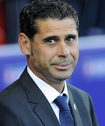 Real Madrid Assistant Coach, Fernando Hierro - Photo mandatory by-line: Joe Meredith/JMP - Mobile: 07966 386802 12/08/2014 - SPORT - FOOTBALL - Cardiff - Cardiff City Stadium - Real Madrid v Sevilla - UEFA Super Cup
