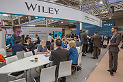 The Wiley publishing stand during day two of the London Book Fair on the 13th March 2019 at London Olympia in the United Kingdom.