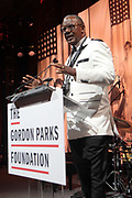 New York, NY- May 22: Documentary Photographer Jamel Shabazz (Honoree) attends the Gordon Parks Foundation Awards Dinner & Auctionn: Celebrating the Arts & Humanitarianism held at Cipriani 42nd Street on May 22, 2018 in New York City.   (Photo by Terrence Jennings/terrencejennings.com)