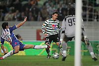 """LISBOA 21 MARCH 2005: # and # in the 26 leg of the Super Liga, season 2004/2005, match  Sporting CP (2) vs FC Porto (0), held in """"Alvalade XXI"""" stadium,  21/03/2005  22:24:29<br /> (PHOTO BY: NUNO ALEGRIA/AFCD)<br /> <br /> PORTUGAL OUT, PARTNER COUNTRY ONLY, ARCHIVE OUT, EDITORIAL USE ONLY, CREDIT LINE IS MANDATORY AFCD-PHOTO AGENCY 2004 © ALL RIGHTS RESERVED"""