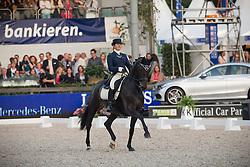 Fassaert Claudia (BEL) - Donnerfee <br /> CDIO5 Grand Prix Freestyle <br /> CHIO Rotterdam 2014<br /> © Dirk Caremans