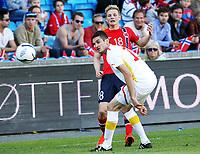 Fotball , 11. juni 2013 , Privatkamp , Norge - Makedonia<br /> Norway - FYR Macedonia<br /> <br /> Erik Huseklepp ,  Norge<br /> Daniel Mojsov , Makedonia