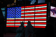 NY121A flags in Times square