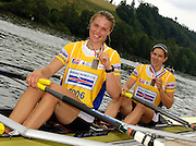 2006 FISA World Cup, Lucerne, SWITZERLAND, 09.07.2006 GBR W2X, bow Annie VERNON and Anna BEBINGTON, Photo  Peter Spurrier/Intersport Images email images@intersport-images.com, Finals Day, Afternoon A Finals. ....[Mandatory Credit Peter Spurrier/Intersport Images... Rowing Course, Lake Rottsee, Lucerne, SWITZERLAND.
