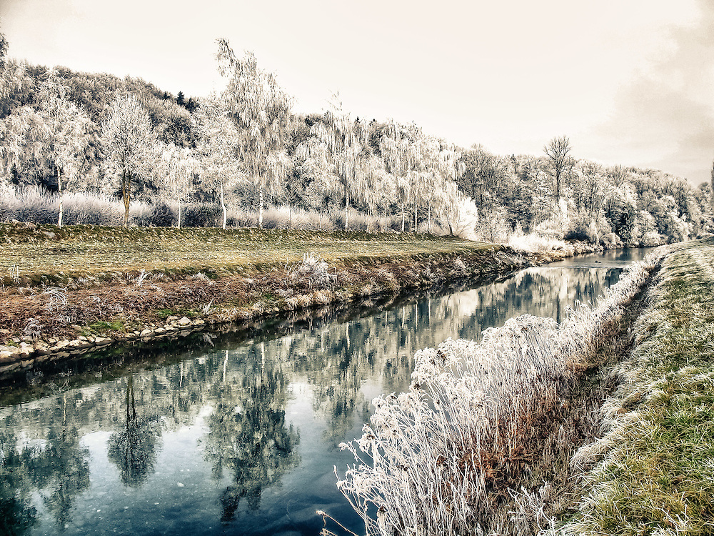 Broye river, early morning, Canton of Vaud, Switzerland