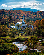 Stowe Community Church and the Little River