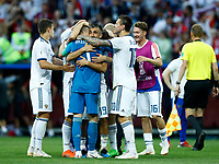Russia players celebrate the goalkeeper Igor Akinfeev (Russia)<br /> Moscow 01-07-2018 Football FIFA World Cup Russia  2018 <br /> Spain - Russia / Spagna - Russia <br /> Foto Matteo Ciambelli/Insidefoto