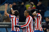 12.12.2012 SPAIN - Copa del Rey 12/13 Matchday 8th  match played between Atletico de Madrid vs Getafe C.F. (3-0) at Vicente Calderon stadium. The picture show Filipe Luis Karsmirski (Brazilian defender of At. Madrid)