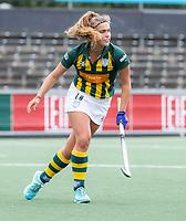 AMSTELVEEN - Jip Dicke (HDM)  tijdens de competitie hoofdklasse hockeywedstrijd dames, Amsterdam-HDM (1-1).  COPYRIGHT KOEN SUYK