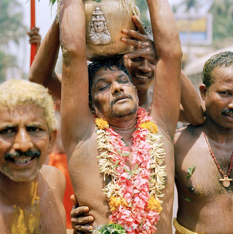 Men at a Hindu Religious Festival, Kerala, India