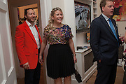 PEREGRINE HEATHCOTE; LOUISE HEATHCOTE, Party given by Basia Briggs and Richard Briggs at their home in Chelsea. London. 14 May 2012