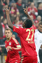 26.10.2011, Allianz Arena, Muenchen, GER, DFB Pokal, 2. Runde, FC Bayern Muenchen vs FC Ingolstadt, im Bild Jubel nach dem Tor zum 2-0 durch David Alaba (Bayern #27)  // during the Pokal fight second Round from GER FC Bayern Muenchen vs FC Ingolstadt , on 2011/10/26, Allianz Arena, Munich, Germany, EXPA Pictures © 2011, PhotoCredit: EXPA/ nph/  Straubmeier       ****** out of GER / CRO  / BEL ******