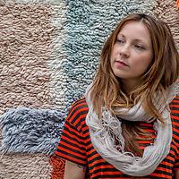 Nederland, Amsterdam, 17 maart 2017.<br />Textile designer Mae Engelgeer.<br /><br /><br />Foto: Jean-Pierre Jans