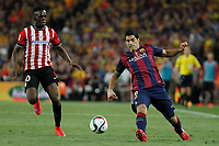 Barcelona´s Luis Suarez (R) and Athletic de Bilbao´s Inaki Williams Dannis during 2014-15 Copa del Rey final match between Barcelona and Athletic de Bilbao at Camp Nou stadium in Barcelona, Spain. May 30, 2015. (ALTERPHOTOS/Victor Blanco)