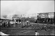 "ackroyd_08553-24. ""Crown Zellerbach. Waterways Terminal fire. September 11, 1958"" (photographed on dock. 35mm. see aerials)"
