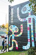 Forever Tatoo mural on Lexington in Asheville, North Carolina.