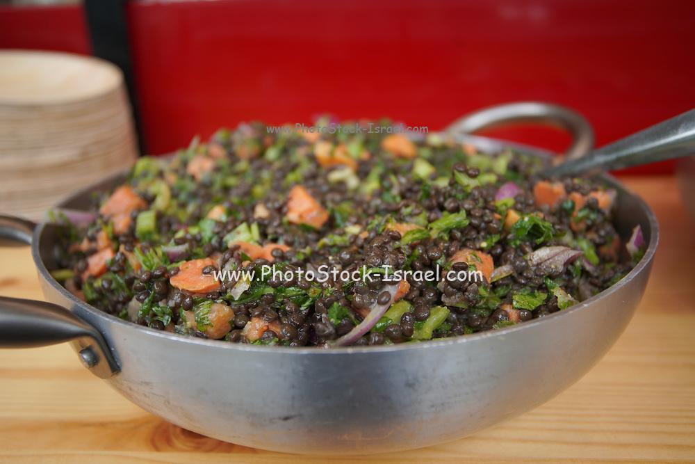 Vegan lentils Stew with carrots