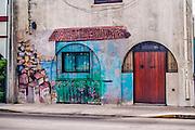 Vina del Mar, February 2011. Graffiti representing the neightbour city of Valparaiso in a house.