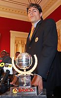 20090528: FUNCHAL, PORTUGAL Ð Nacional Madeira striker Nene receives the Golden Ball, after scoring 20 goals on the Portuguese League 2008/2009. Nene is being followed by SL Benfica, FC Porto, Arsenal, Lyon, AS Roma and Hamburg, among other teams. In picture: Nene. <br /> PHOTO: Octavio Passos/CITYFILES