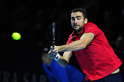 October 30, 2016 - Basel, Basel, Switzerland - Marin Cilic (CRO) during the final of the Swiss Indoors at St. Jakobshalle in Basel, Switzerland on October 30, 2016. (Credit Image: © Miroslav Dakov/NurPhoto via ZUMA Press)
