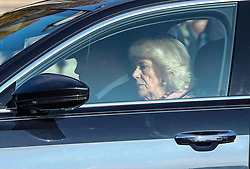 © Licensed to London News Pictures. 07/11/2019. London, UK. In this image taken yesterday 6/11/2019 - Camilla Duchess of Cornwall and Prince Charles arrive at Buckingham Palace. The Duchess has been forced to miss a royal engagement due to poor health. The Duchess was due at a gala dinner at the The London Library on Wednesday night to mark the 200th anniversary of the birth of Prince Albert. Photo credit: Alex Lentati/LNP
