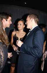 MISS CAMILLA AL FAYED and ANDY MARTIN at a party hosted by Panerai and the Baglioni Hotel, 60 Hyde Park Gate, London on 6th December 2004.<br /><br />NON EXCLUSIVE - WORLD RIGHTS